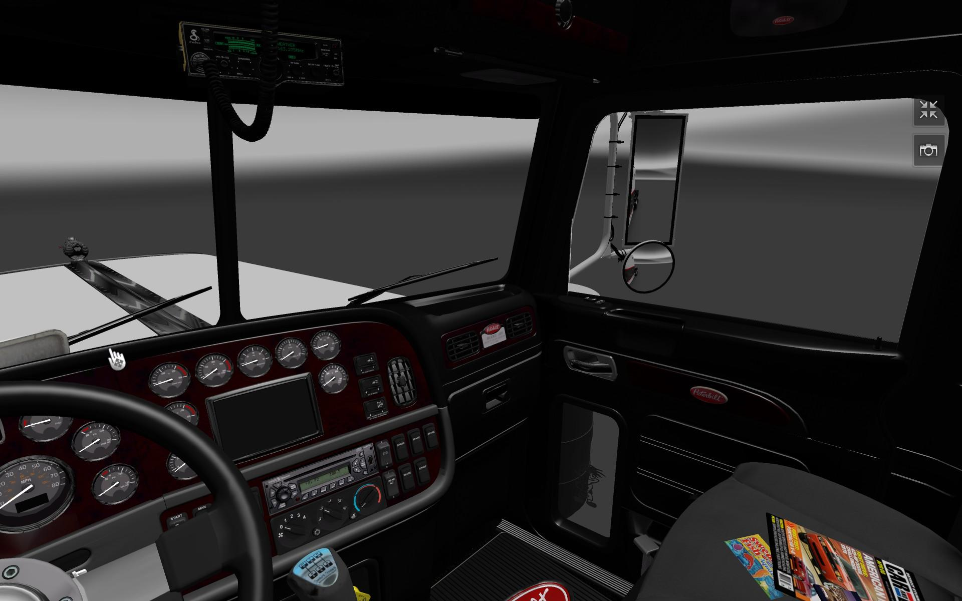 Peterbilt 389 Dark Interior Mod Euro Truck Simulator 2 Mods