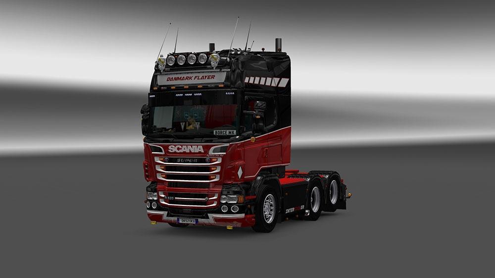 SCANIA RJL DANMARK FLAYER SKIN Mod -Euro Truck Simulator 2 Mods