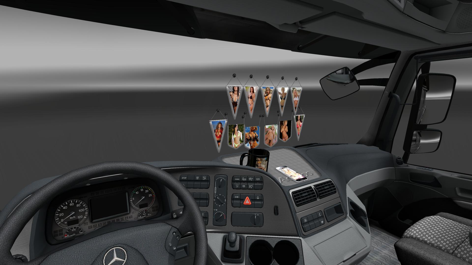 SEXY INTERIOR ELEMENTS V1.0 ETS 2 -Euro Truck Simulator 2 Mods Scania Trucks Interior