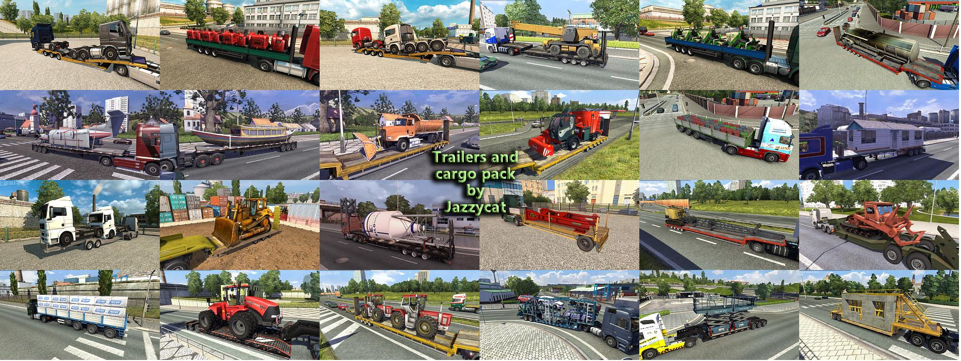 TRAILERS AND CARGO PACK BY JAZZYCAT V3 6 1ETS2 -Euro Truck