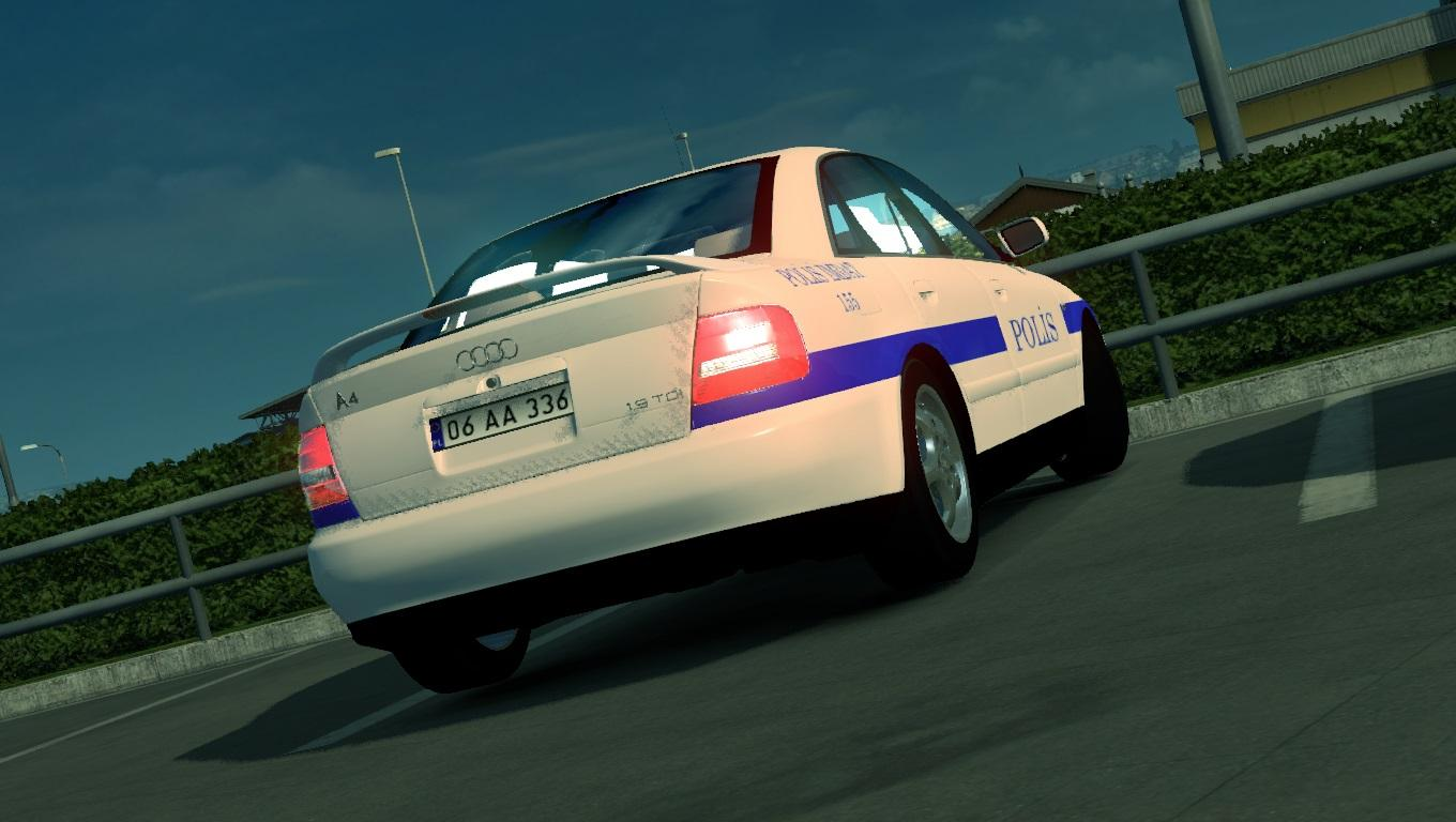 TURKISH POLICE CAR SKIN FOR AUDI A4 V1.1 ETS2 -Euro Truck Simulator 2 Mods