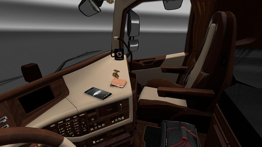 Volvo fh 2012 luxury interior mod euro truck simulator 2 mods for Interior design simulator free