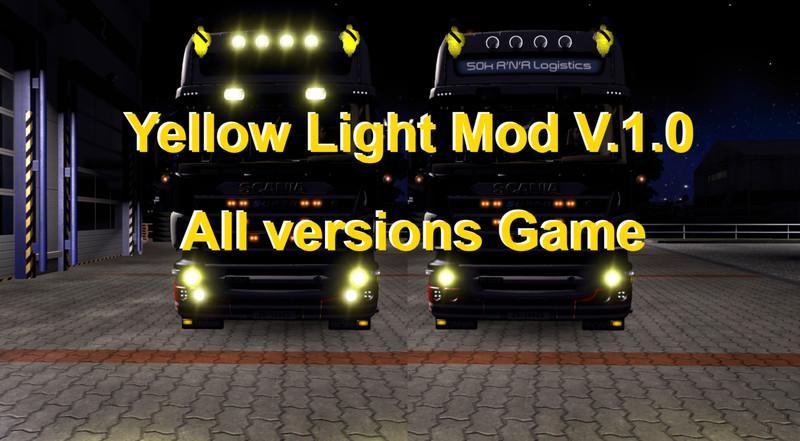 XENON LIGHT MOD V1.0 for ETS2 -Euro Truck Simulator 2 Mods