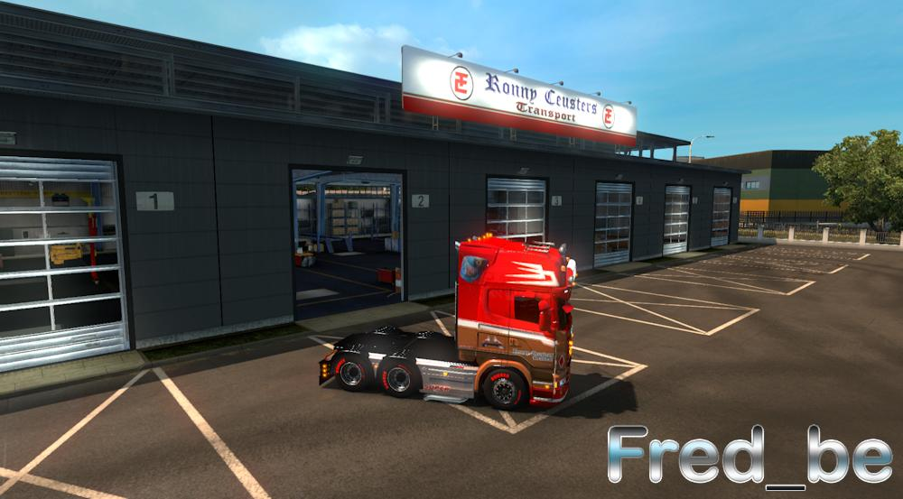 Big garage ronny ceusters mod euro truck simulator for How big is a 2 car garage