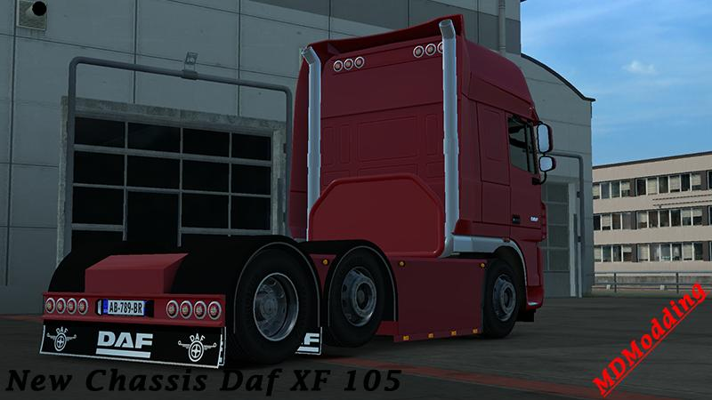 CUSTON CHASSIS DAF XF 105 SCS V1 22 Mod -Euro Truck