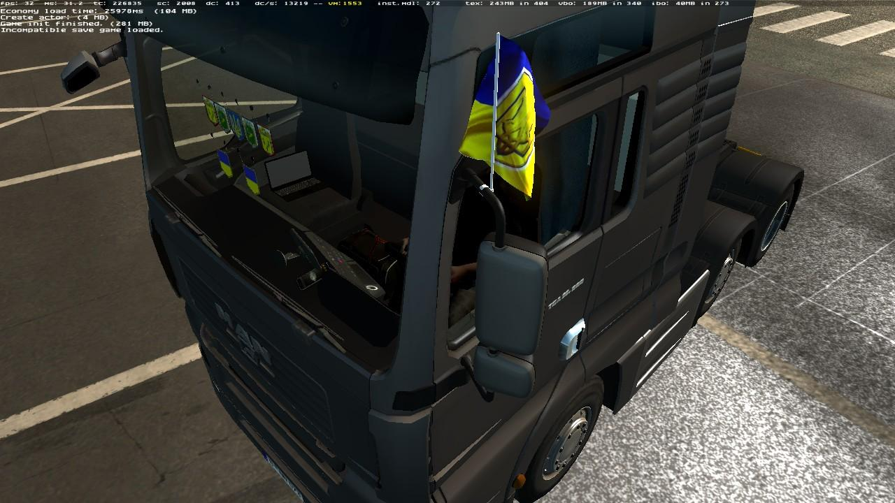 FLAGS FOR MAN TGA BY MADSTER 1 22 X Mod -Euro Truck