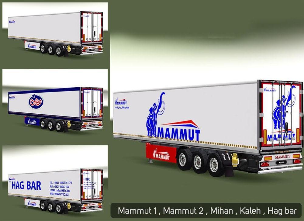 MAMMUT TRAILERS 1.22.X ETS2 -Euro Truck Simulator 2 Mods