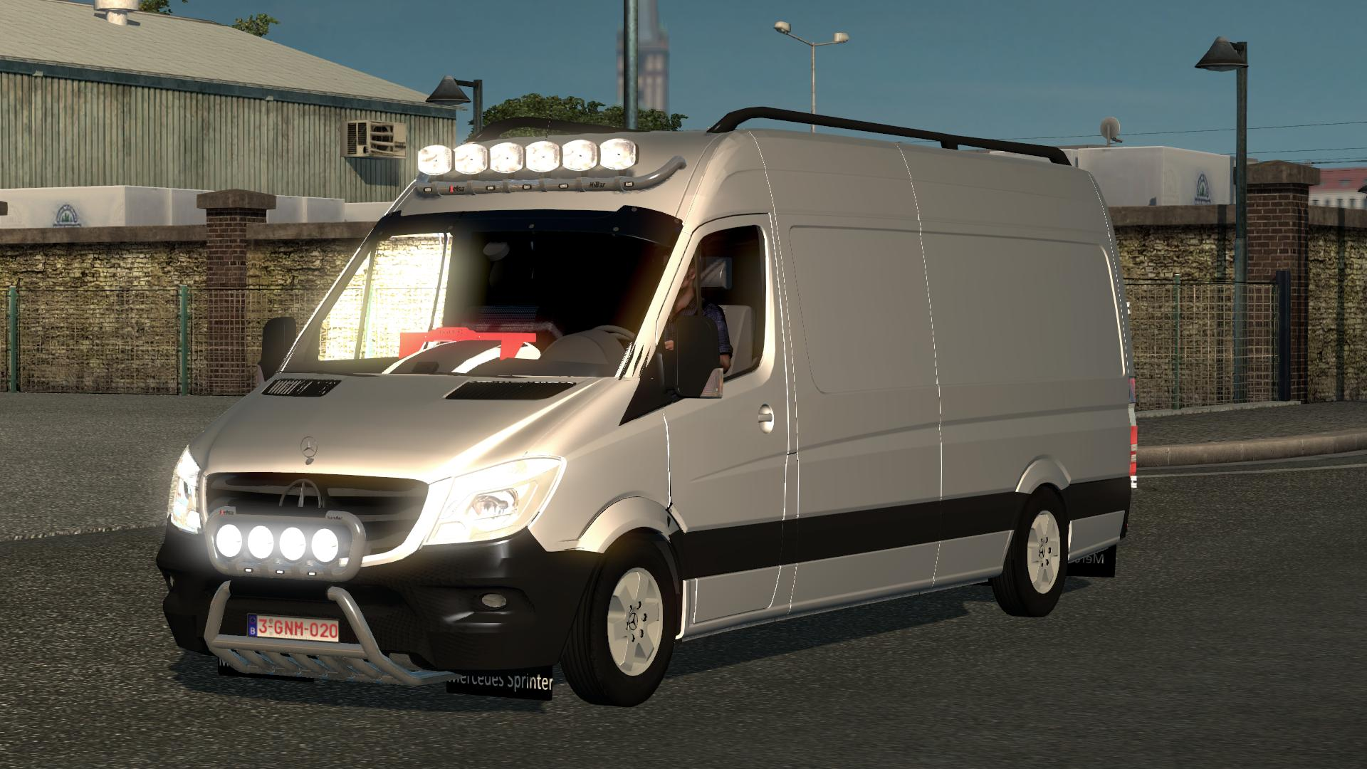 mercedes sprinter mega mod v1 0 for ets2 euro truck simulator 2 mods. Black Bedroom Furniture Sets. Home Design Ideas