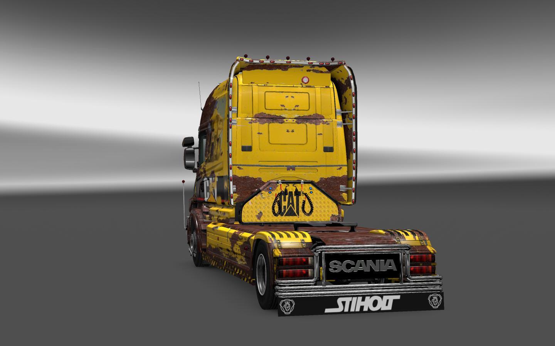 SCANIA T CAT & CAT RUST Skins (1) - ETS 2 Mods | Euro Truck