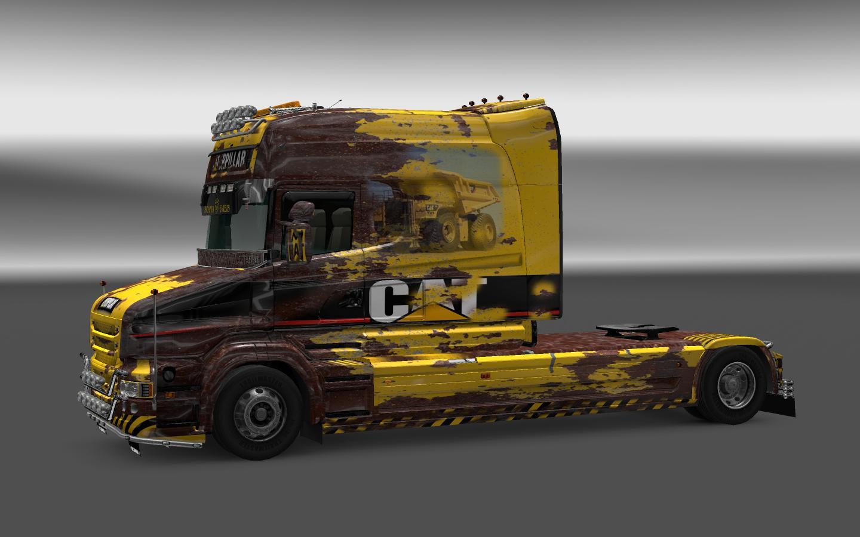 SCANIA T CAT & CAT RUST Skins -Euro Truck Simulator 2 Mods
