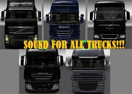 SOUND PACK FOR ALL TRUCKS V2 ETS2 -Euro Truck Simulator 2 Mods
