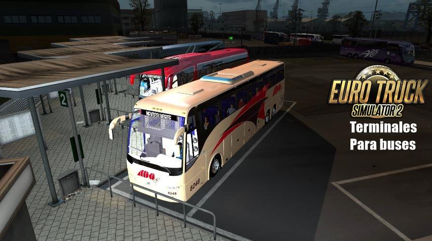 TERMINAL FOR BUSES AND TRUCKS 122X Mod Euro Truck Simulator 2 Mods