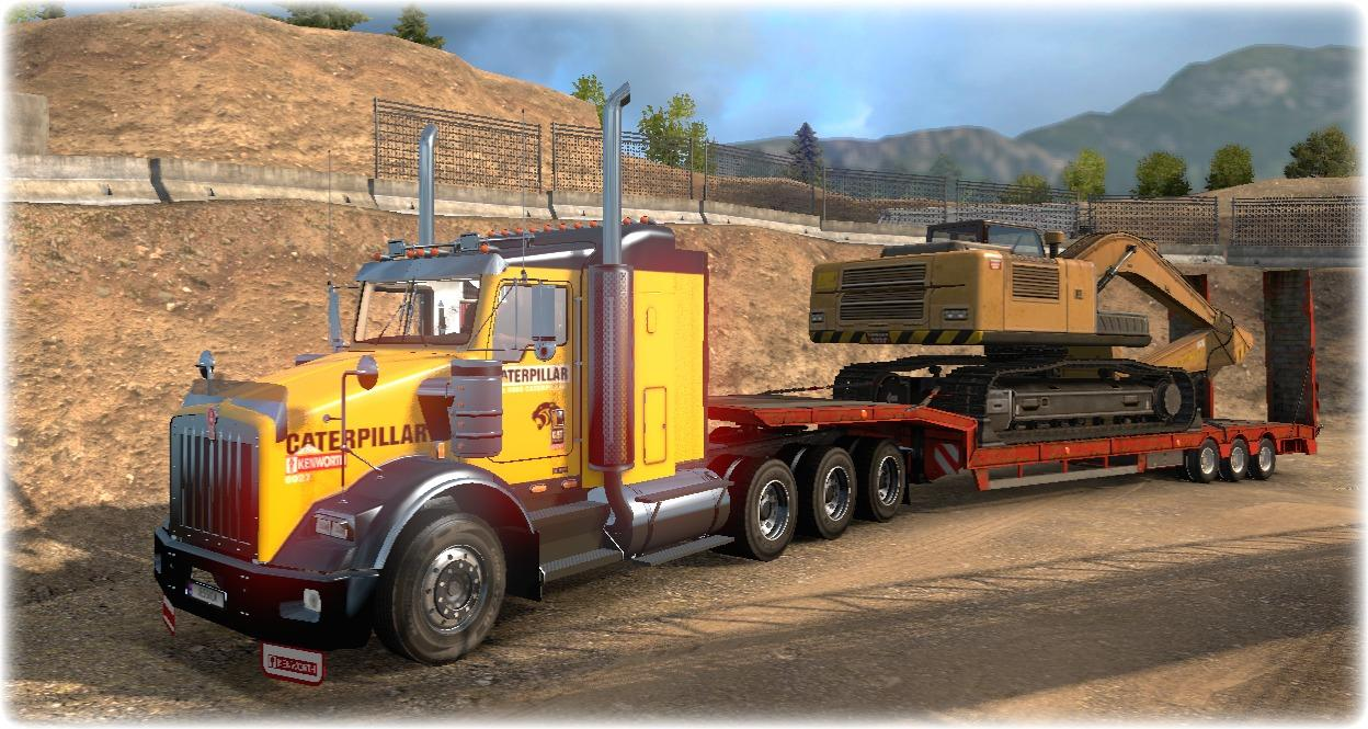 How to install ats mods mod for american truck simulator ats - Kenworth T800 Cat Skin 1 22 Mod Euro Truck Simulator 2 Mods