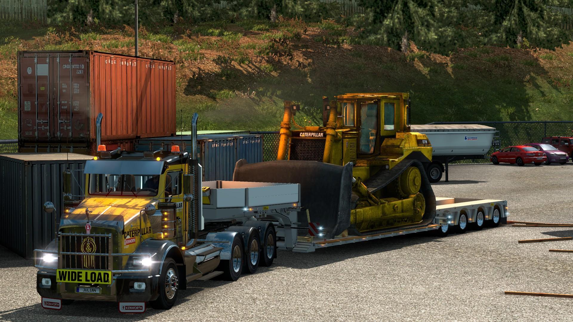 KENWORTH T800 CAT SKIN 1.22 Mod -Euro Truck Simulator 2 Mods