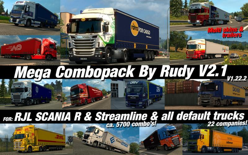 mega combo pack v2 1 for ets2 euro truck simulator 2 mods. Black Bedroom Furniture Sets. Home Design Ideas