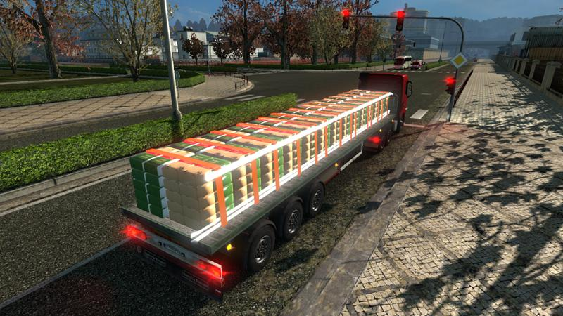 Mod Trailer Flat Bed 1 22 X For Ets2 Euro Truck Simulator
