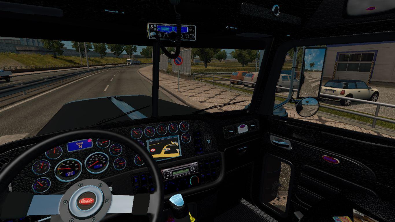 PETERBILT 389 BLACK INTERIOR 1 22 Mod -Euro Truck Simulator