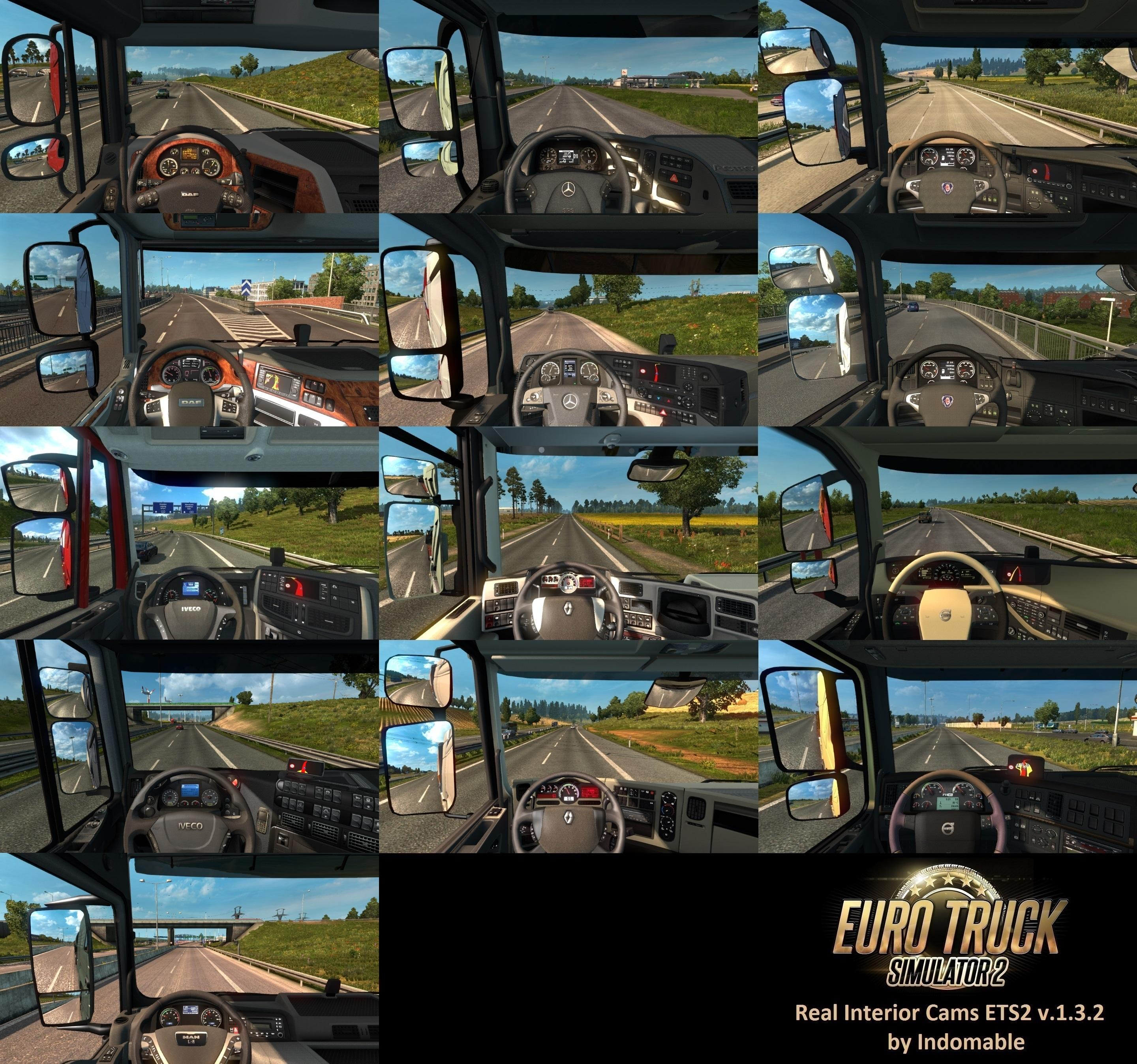 Seat Skins For Trucks >> REAL INTERIOR CAMS ETS2 V1.3.2 ETS 2 -Euro Truck Simulator 2 Mods