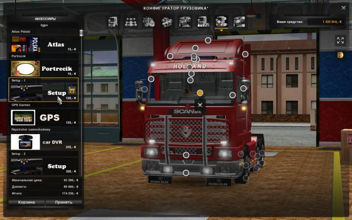 mode euro truck simulator 2 gps