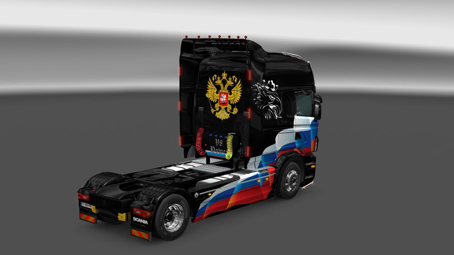 SCANIA RJL RUSSIA FLAG SKIN 1 22 Mod -Euro Truck Simulator 2