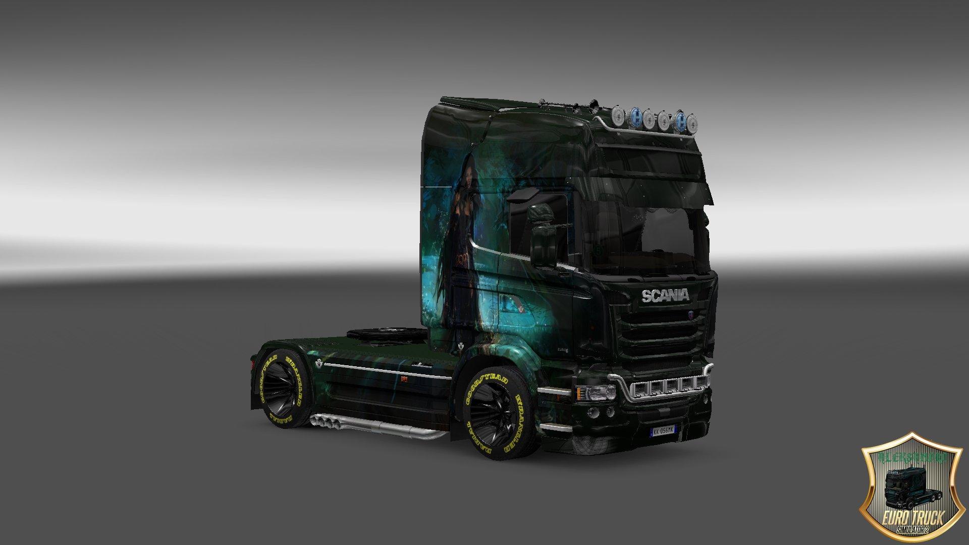 SCANIA STREAMLINE GIRL V3 SKIN 1.22 Mod - Euro Truck