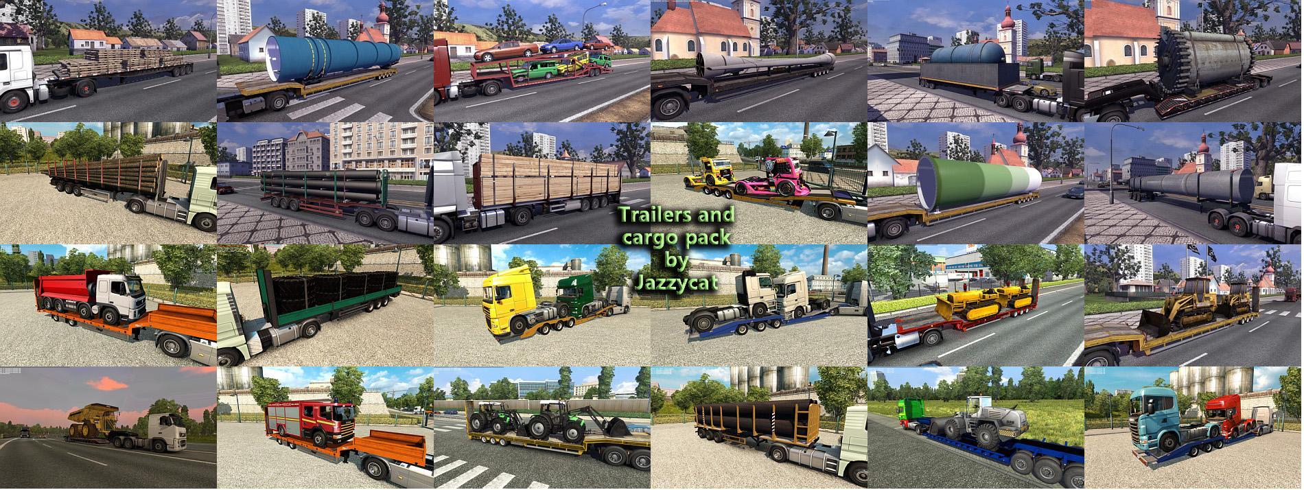 TRAILERS AND CARGO PACK BY JAZZYCAT V3 7 For ETS 2 -Euro