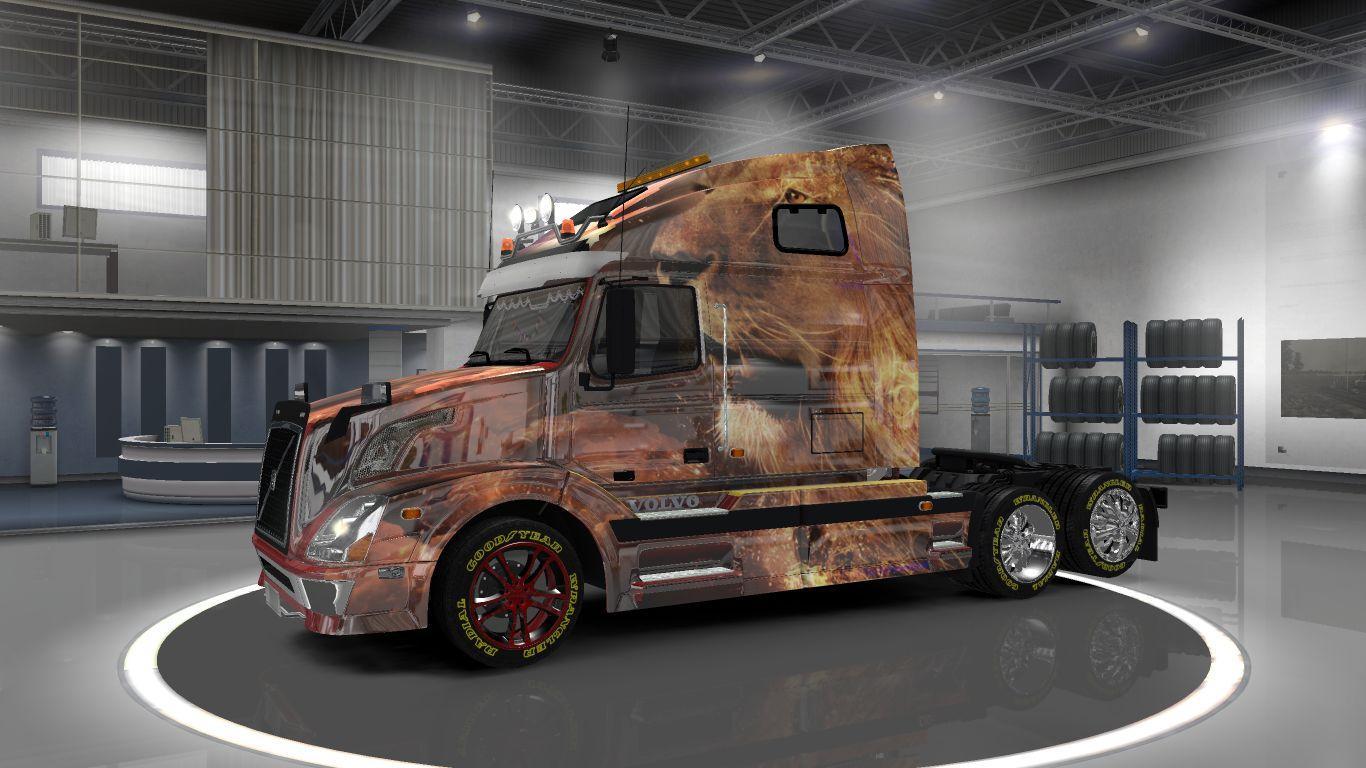 VOLVO VNL 670 LION SKIN 1.22 Mod -Euro Truck Simulator 2 Mods