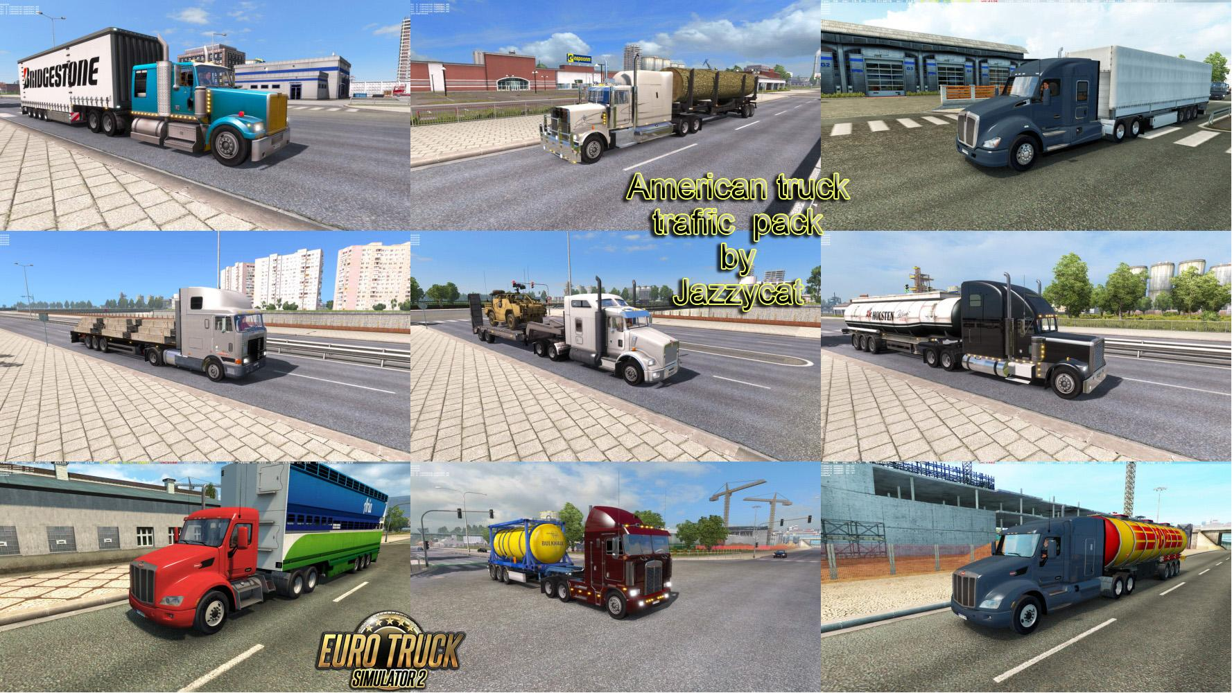 AMERICAN TRUCK TRAFFIC PACK BY JAZZYCAT V1 1 For ETS2 -Euro