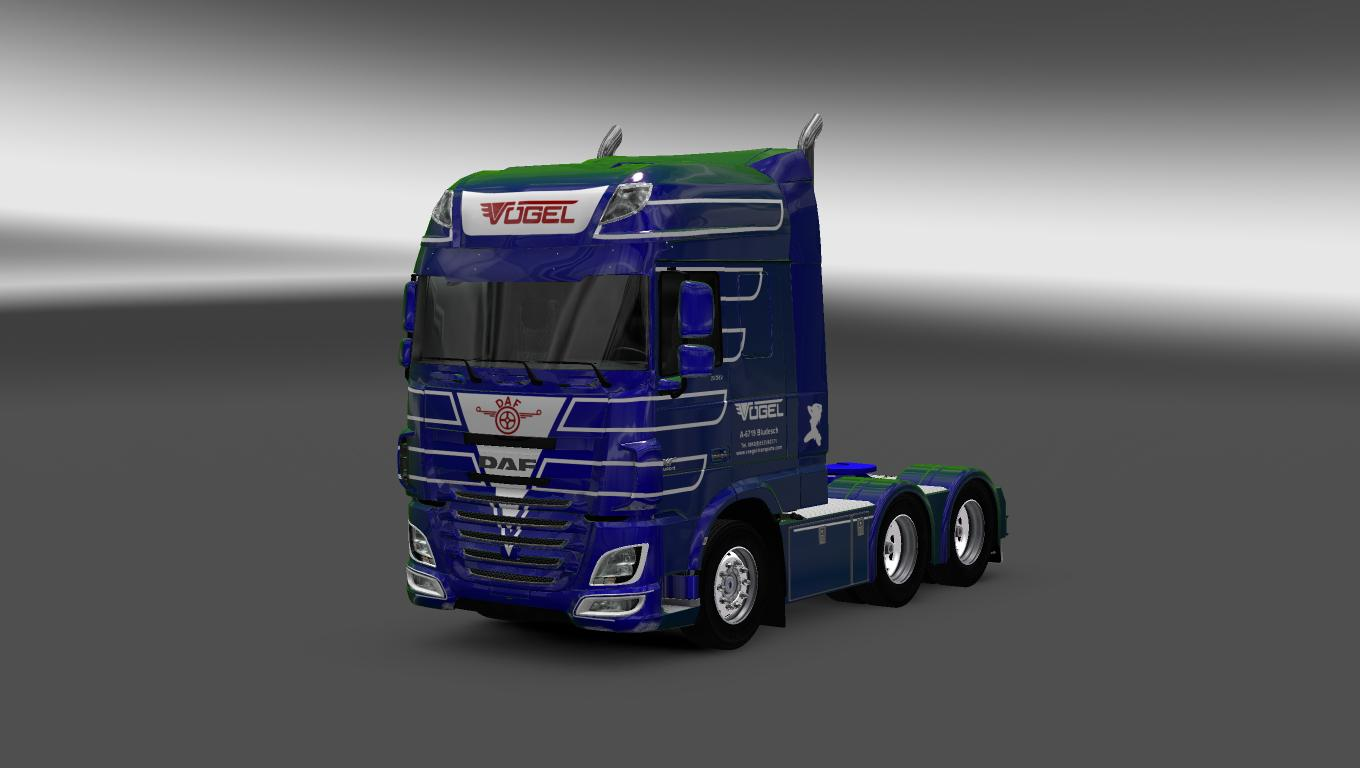 Parts For Cars >> DAF XF EURO6 VOGEL TRANSPORT SKIN PACK ETS2 -Euro Truck Simulator 2 Mods