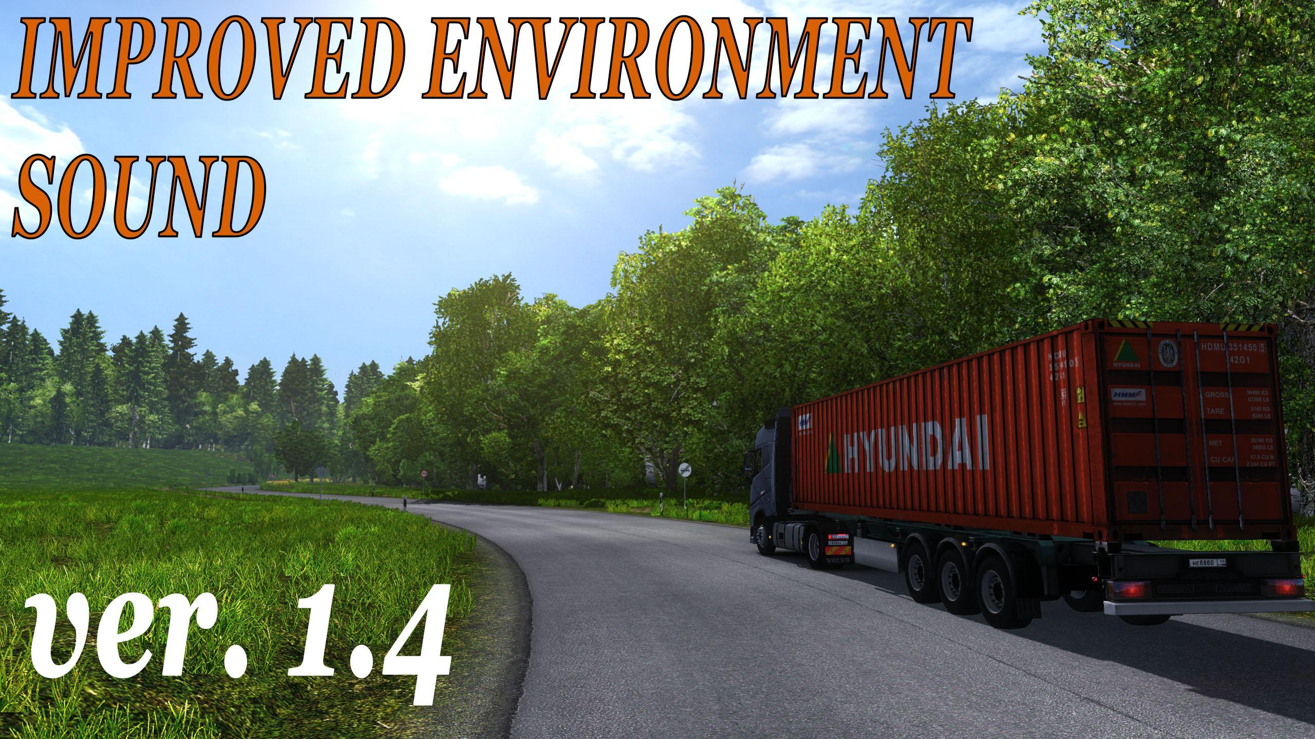 improved environment sound v1 4 mod  euro truck simulator