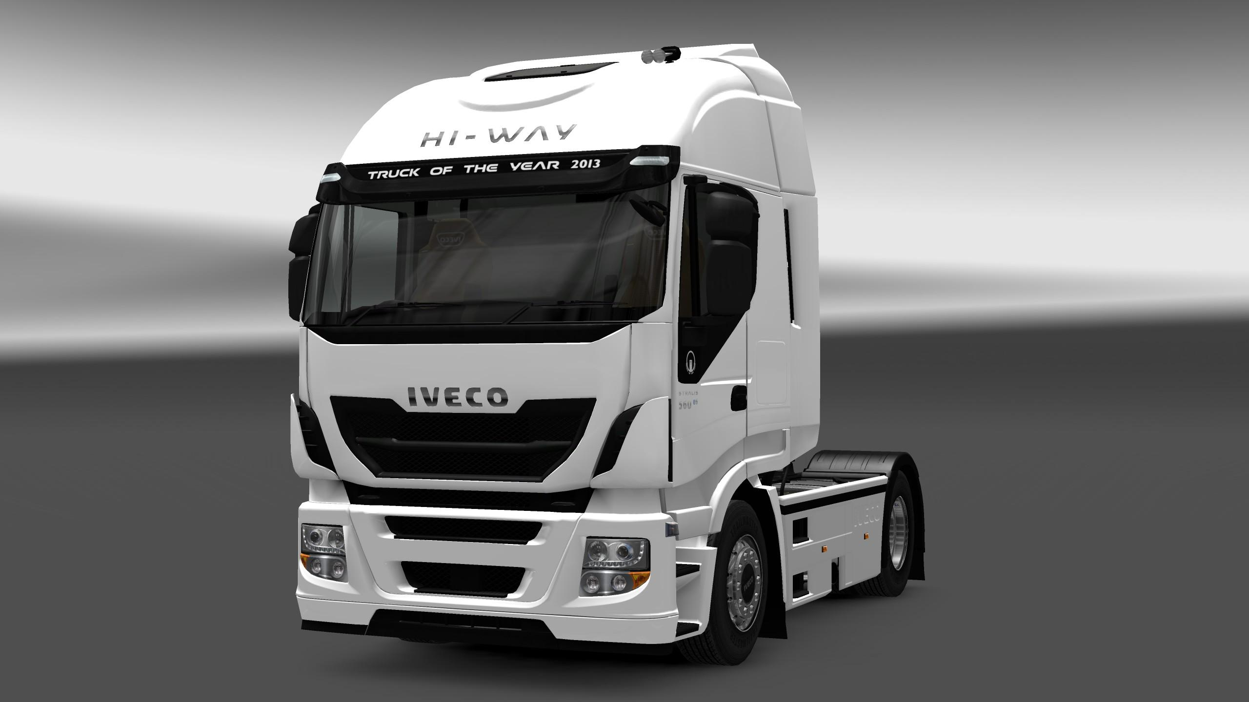 iveco stralis hi way interior exterior rework v1 1 mod euro truck simulator 2 mods. Black Bedroom Furniture Sets. Home Design Ideas
