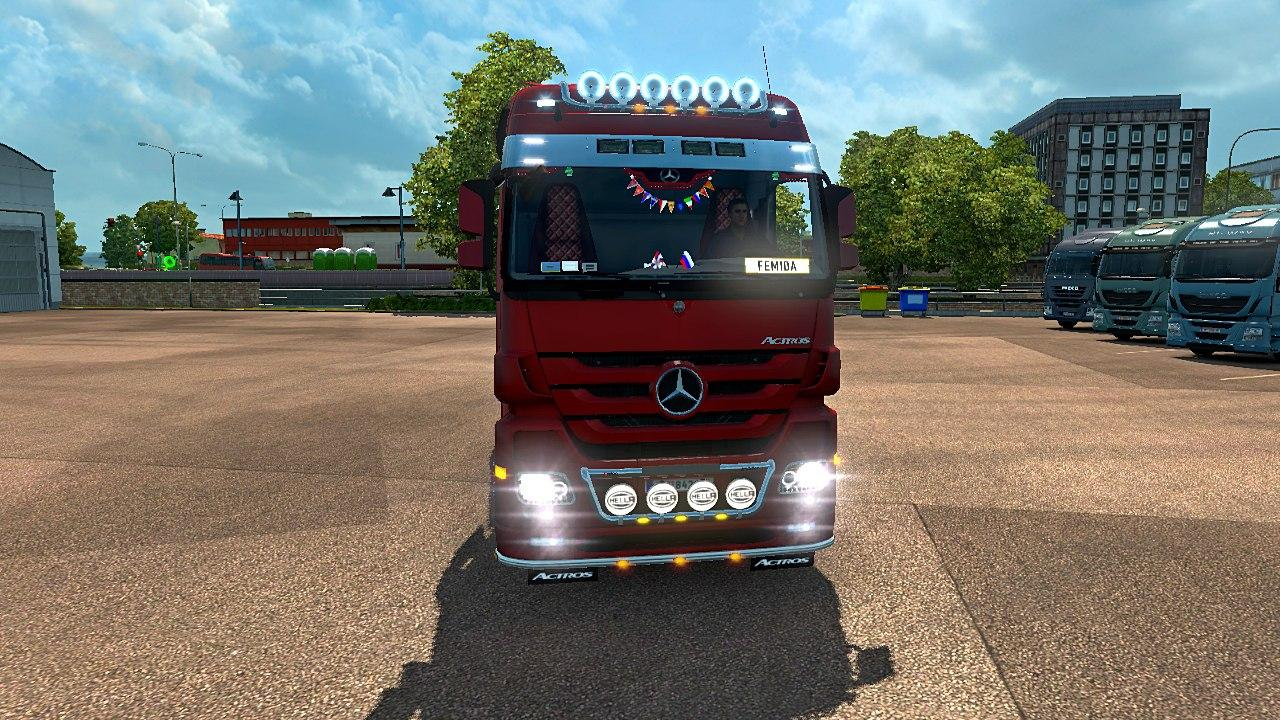 mercedes actros mp3 reworked truck euro truck simulator 2. Black Bedroom Furniture Sets. Home Design Ideas