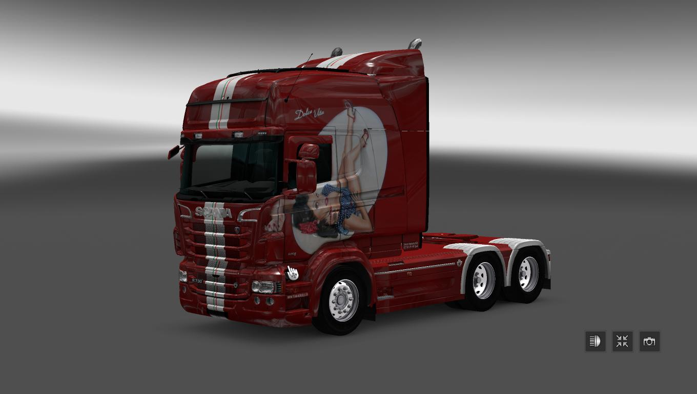 scania rs rjl dolce vita skin mod euro truck simulator 2 mods. Black Bedroom Furniture Sets. Home Design Ideas