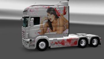 Euro Truck Simulator 2 Volvo FH 2012 Christmas Skin Pack