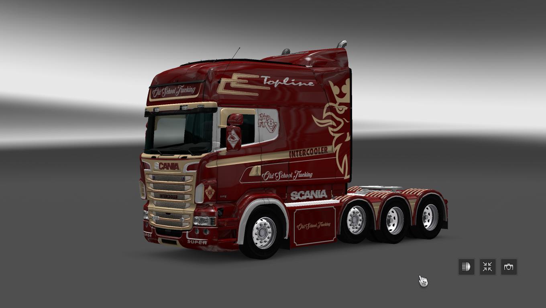 SCANIA RS RJL OLD SCHOOL TRUCKING SKIN Mod -Euro Truck Simulator 2 Mods