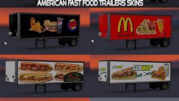 American Fast Food Trailers Skins ATS -Euro Truck ...