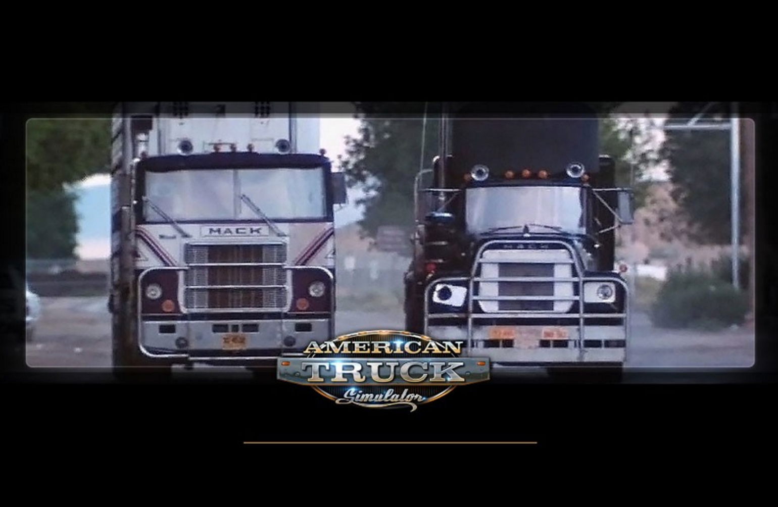 Ats Boot Screen With The Wallpaper From The Movie Convoy