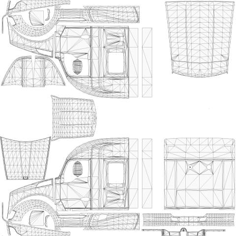 Kenworth T680 Templates For Mod Euro Truck Simulator 2 Mods