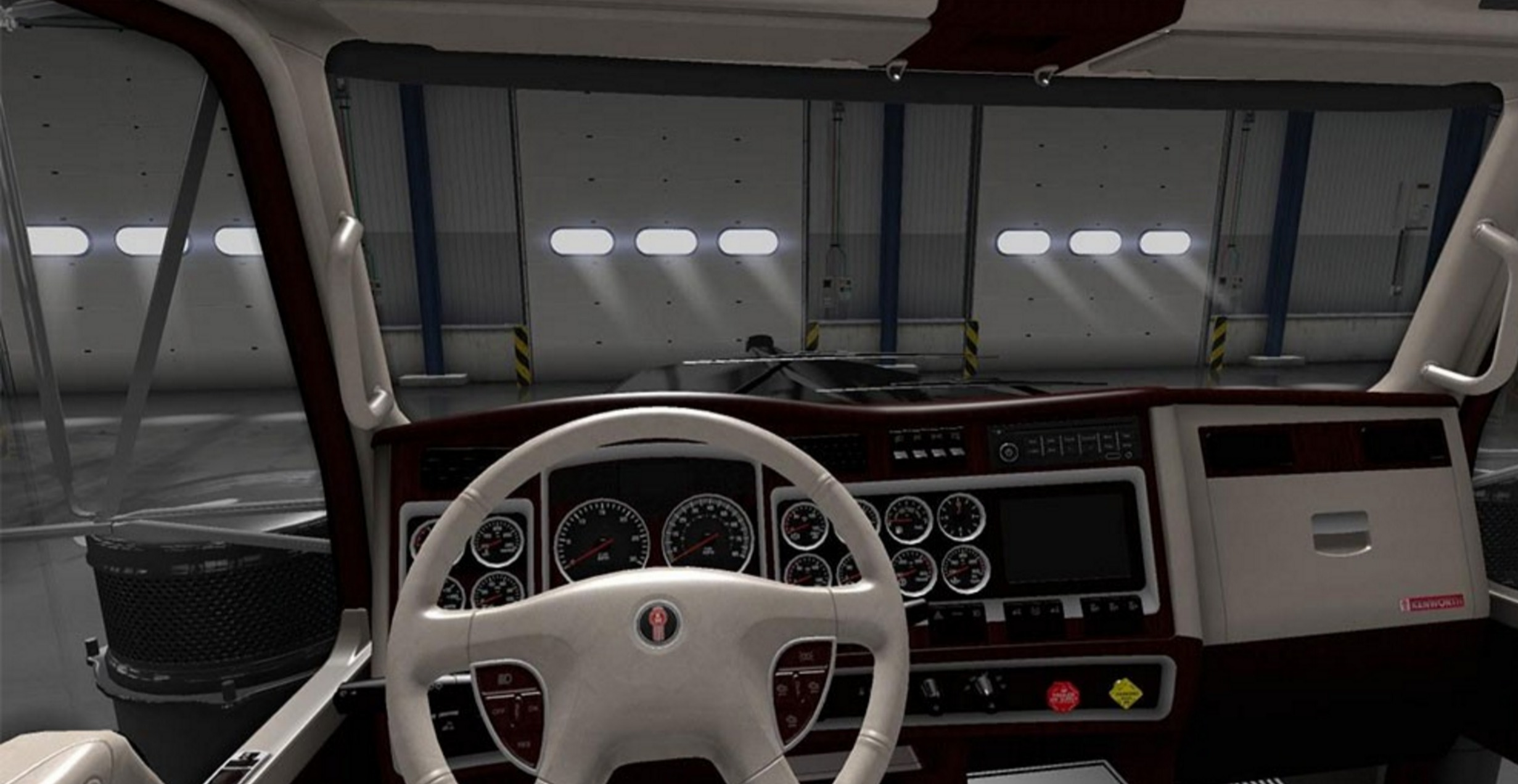 Kenworth W900 Lux Interior V2 For Truck For Ats Euro Truck Simulator 2 Mods
