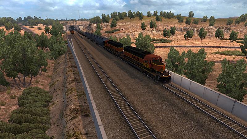 LONGER TRAINS V1 0 0 ATS -Euro Truck Simulator 2 Mods