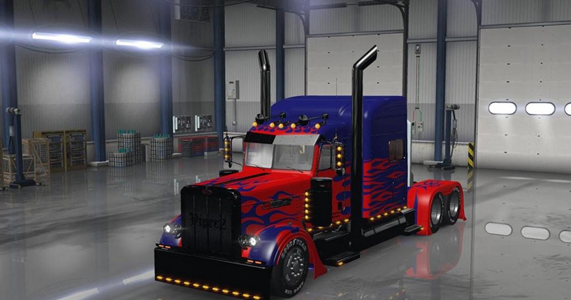 Optimus Prime For Peterbilt 389 Truck Ats Euro Truck