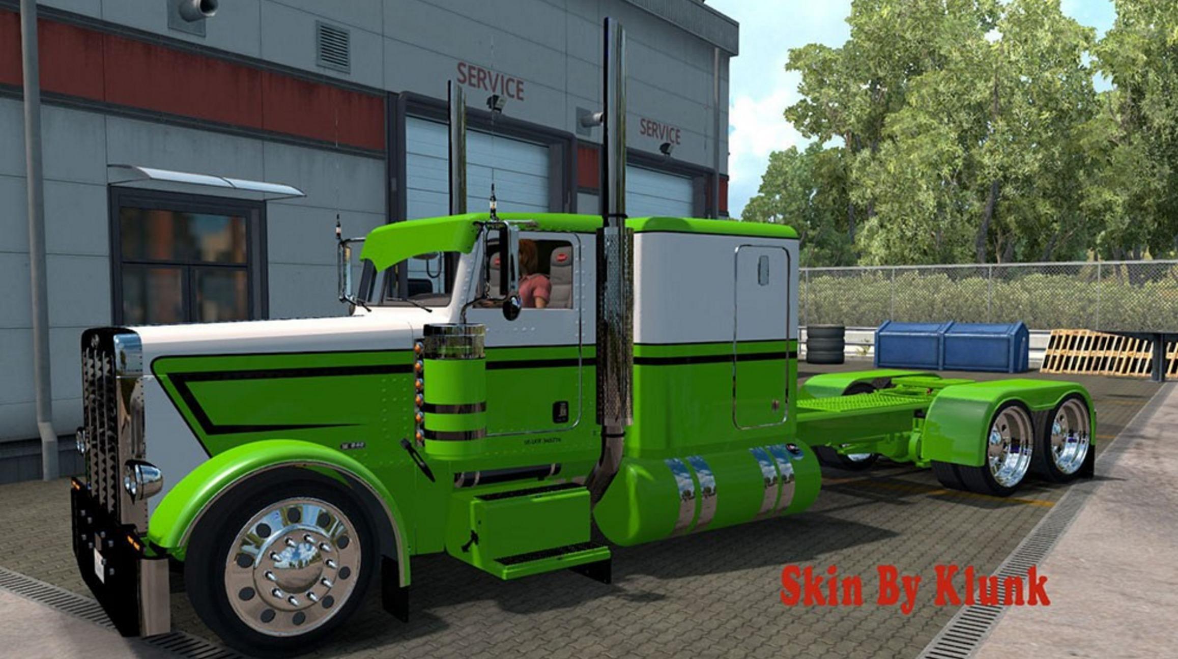 Peterbilt 389 Green White Mod Skin Euro Truck Simulator 2 Mods American Truck Simulator Mods