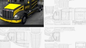 peterbilt 579 templates for ats euro truck simulator 2 mods