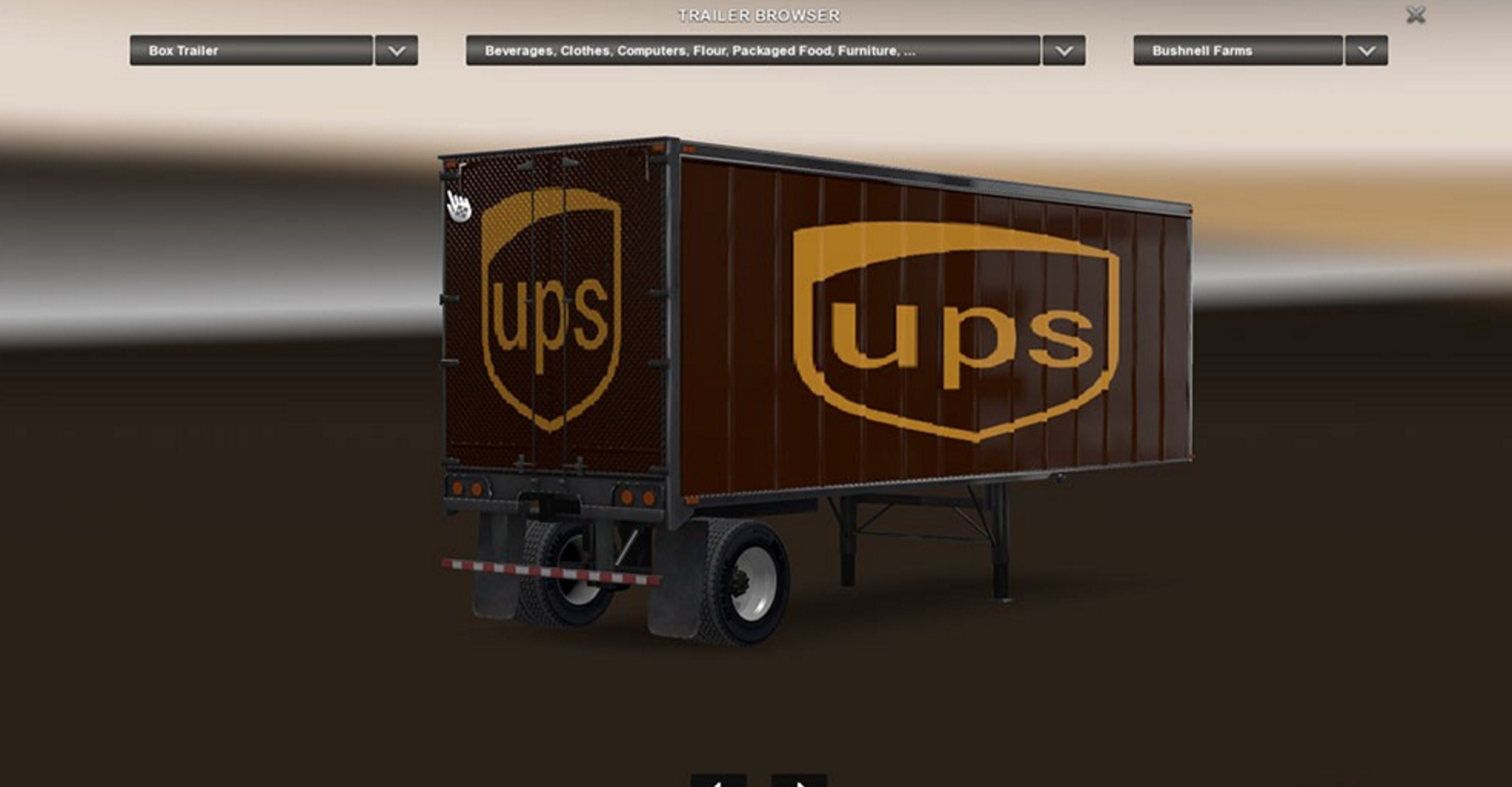 Ups and Random Trailer Skins Mod -Euro Truck Simulator 2 Mods