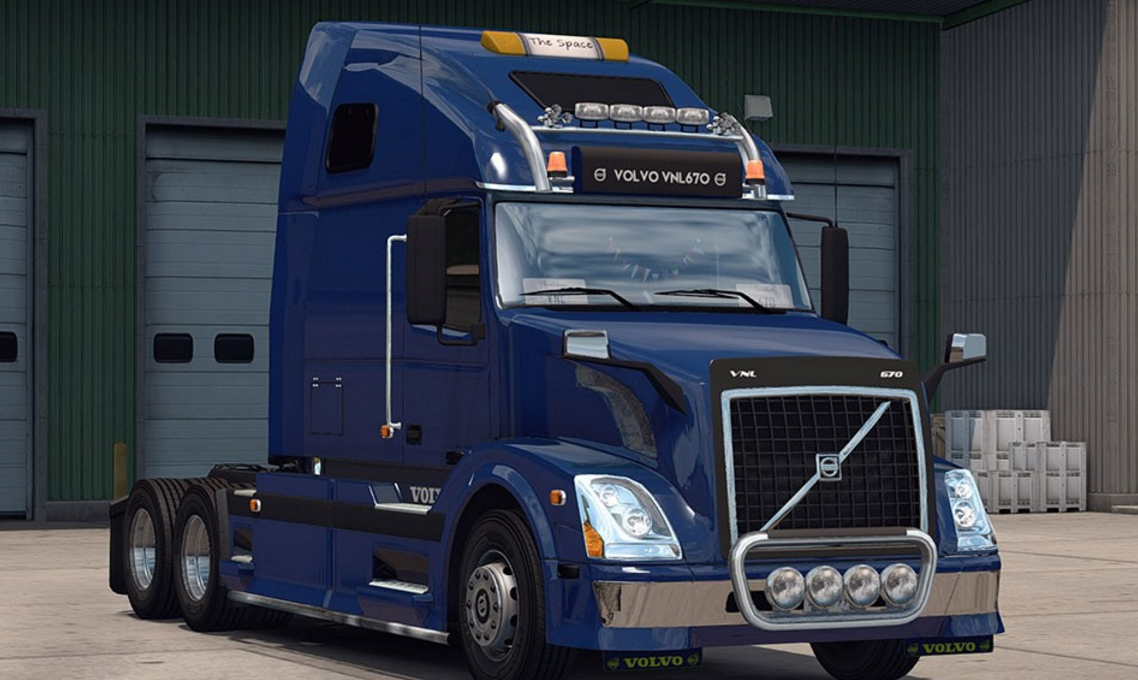 Volvo VNL 670 v 1.1 for ATS -Euro Truck Simulator 2 Mods