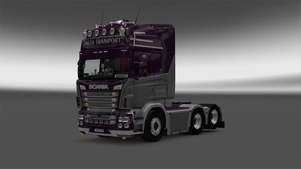Alta Transport Scania Rjl Skin Mod Euro Truck Simulator 2