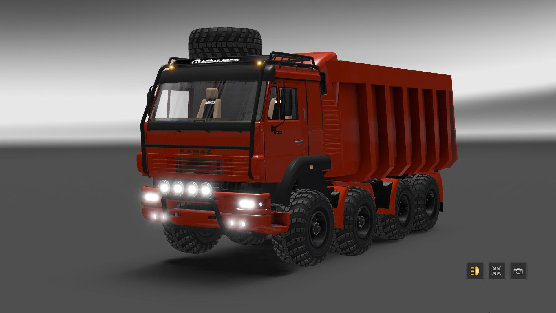 Euro truck simulator 2 mods daf xf 105 james s hislop pictures to pin - Kamaz 8x8 Monster Truck Update 12 03 V1 1