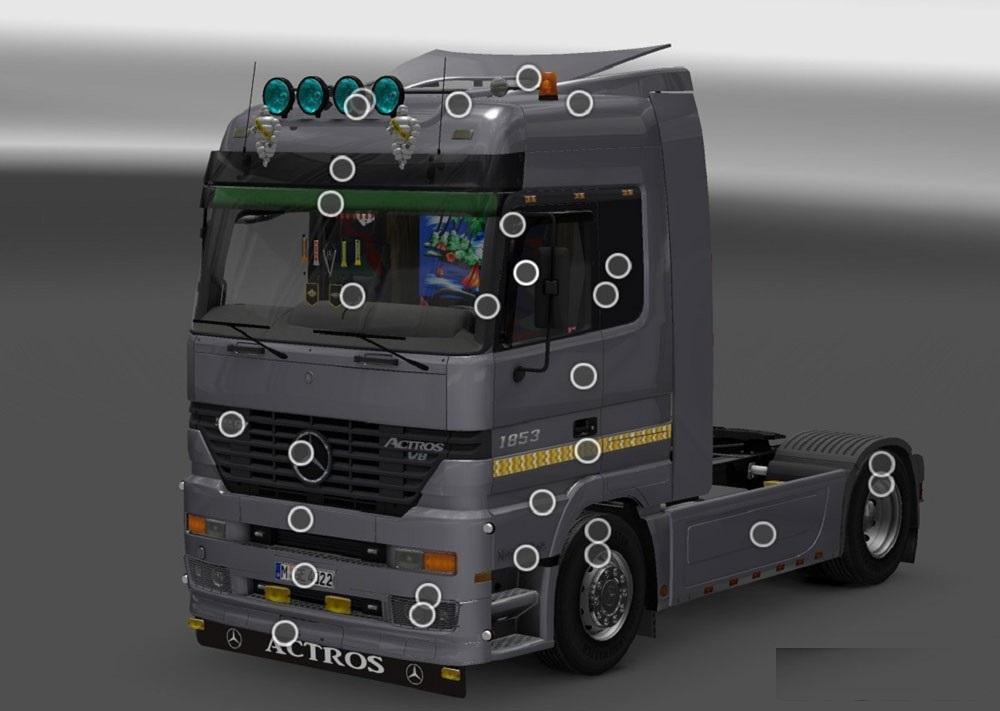 Mercedes benz actros mp1 v2 0 truck euro truck simulator for Mercedes benz mods