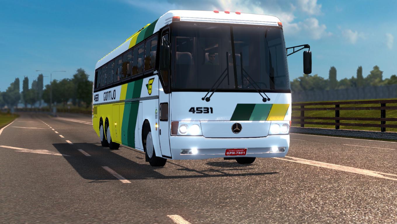 Mercedes benz bus carraseri 400 bus euro truck simulator for Mercedes benz transit