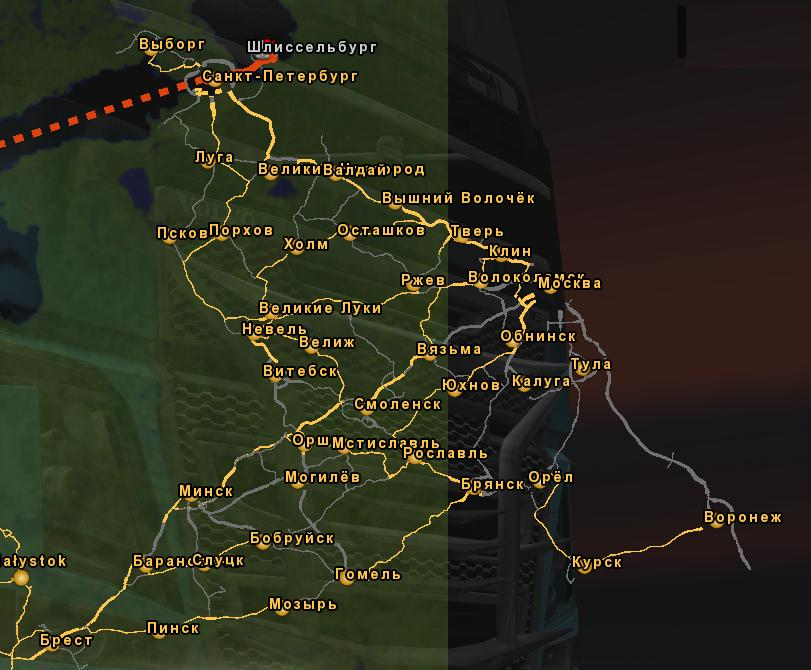 RUSMAP RUSSIAN VERSION V ETS Euro Truck Simulator Mods - R us map